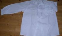 Męska koszula lniana, biała - rodzaj I