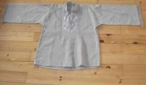 Koszula męska, lniana, szara, juhaska - rodzaj I