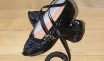 Kierpce damskie r.36-39 - zelowane - czarne