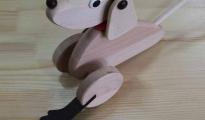 Pies ruchomy - wraz z kijem do pchania
