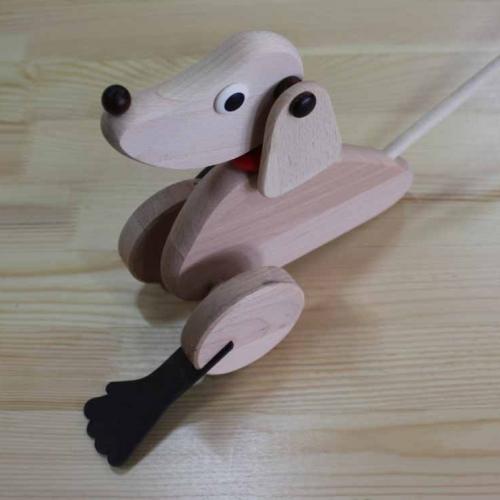 Pies ruchomy – wraz z kijem do pchania