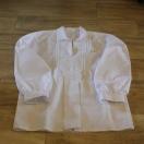 Koszula chłopięca, lniana, biała – rodzaj II (junior)