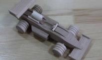 Bolid drewniany do pomalowania