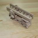 Drewniany wóz stażacki do pomalowania