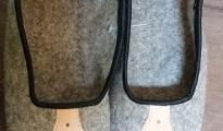 Pantofle z sukna r.36-39 - szare